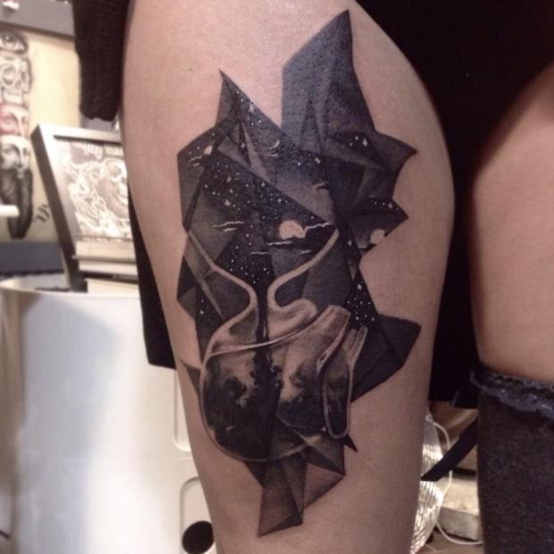 Gabriele Pais, tatuaggio realistico