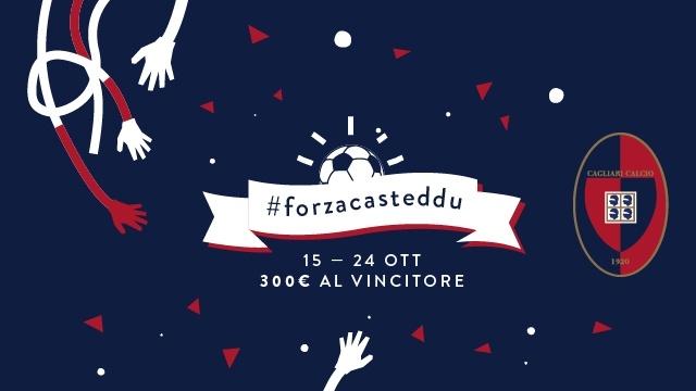 #forzacasteddu | Firma la T-shirt del Cagliari Calcio e vinci 300 euro