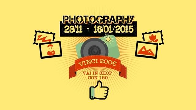 Dal 28/11 al 16/01 la nuova sfida è PHOTOGRAPHY!