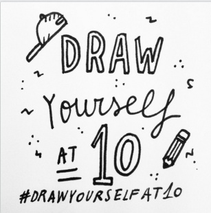 """Draw yourself at 10"": gli illustratori si disegnano!"
