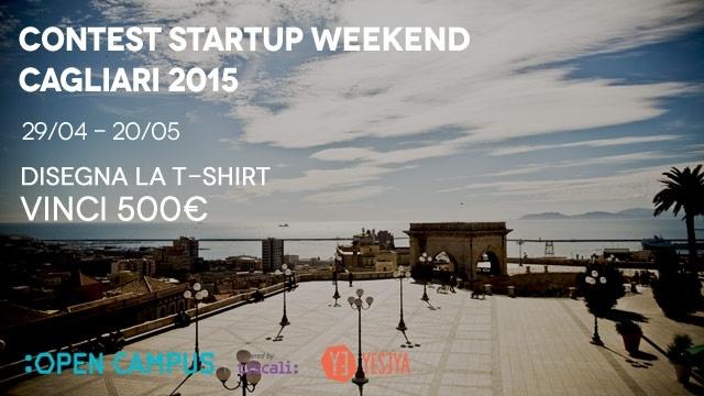 Contest Startup Weekend Cagliari 2015: firma la T-shirt e vinci 500 euro